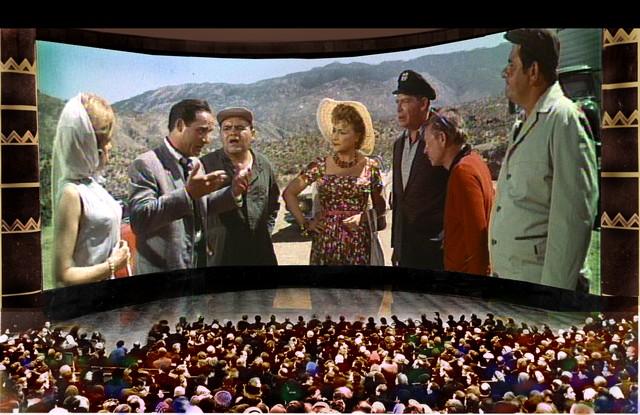 Демонстрация американского фильма «Этот безумный, безумный, безумный, безумный мир» в московском панорамном кинотеатре «Мир». © Н.Майоров. Реконструкция, 2003 - http://cinemafirst.ru - «X» ПИШЕМ, «Y» В УМЕ И «Z» В НЕИЗВЕСТНОМ ОСТАТКЕ